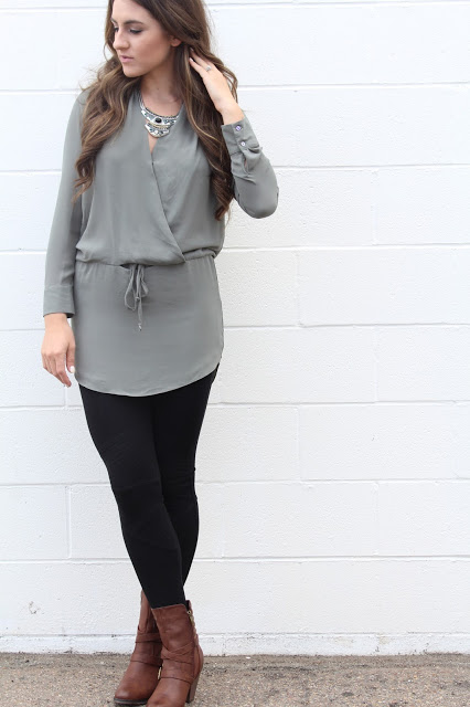 Bohemian Street Style Boots Tunic Leggings Blogger