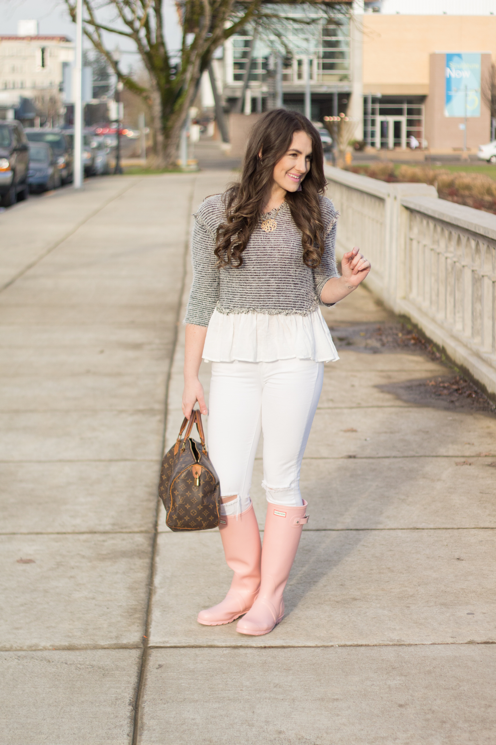 Why you should be wearing a peplum top in 2017 by popular Portland fashion blogger Topknot and Pearls