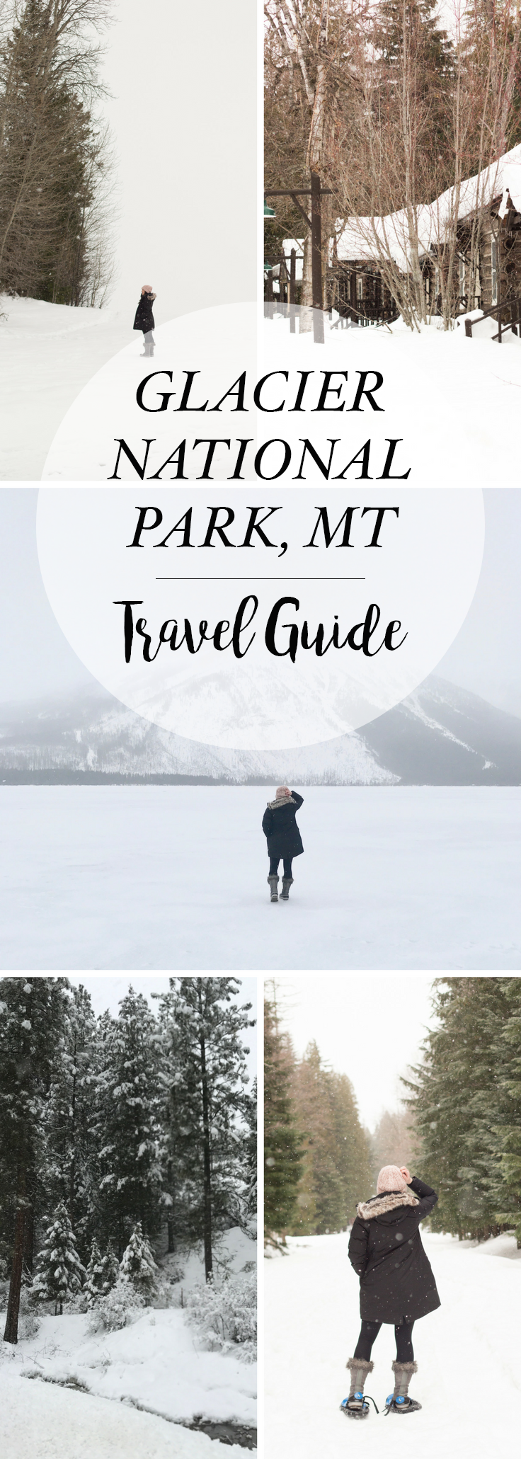 Glacier National Park is a must see view on your bucket list. Frozen lakes and a winter wonderland.