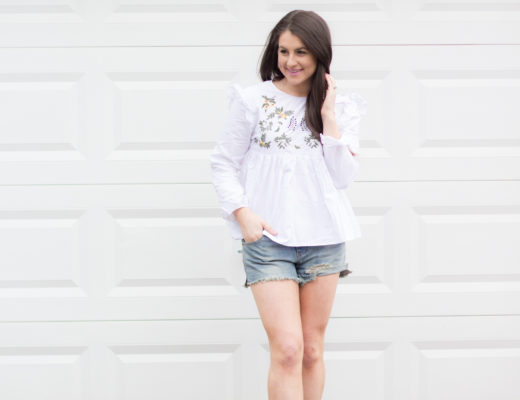 Embroidery shirt under $20 for Spring!