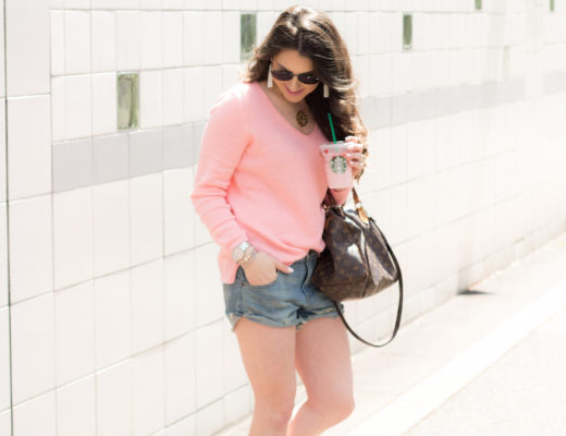 Shorts and sweaters are the perfect combo for the chilly Summer days!