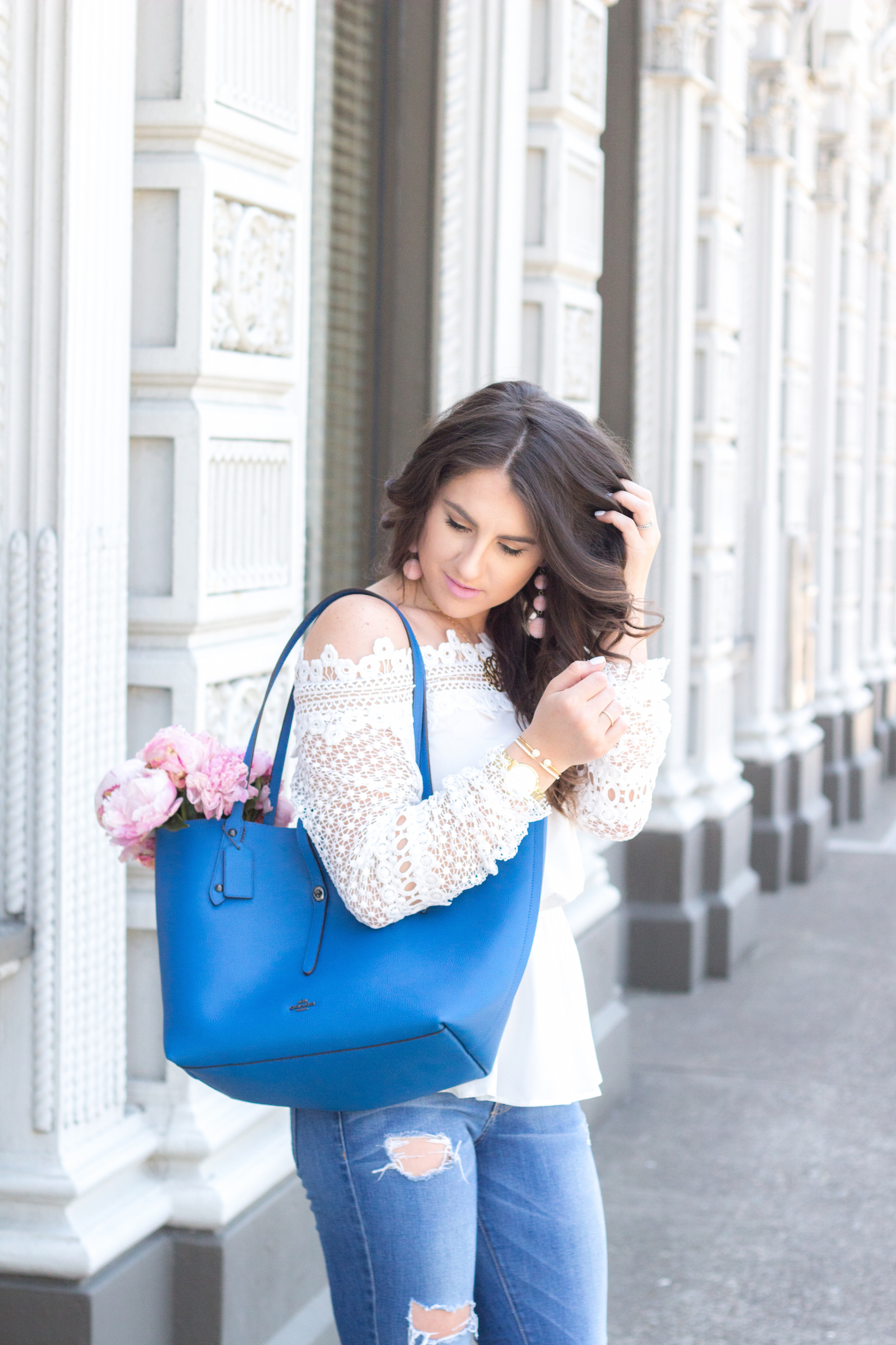 Jeans in Summer Style Hack by popular Portland fashion blogger Topknot and Pearls