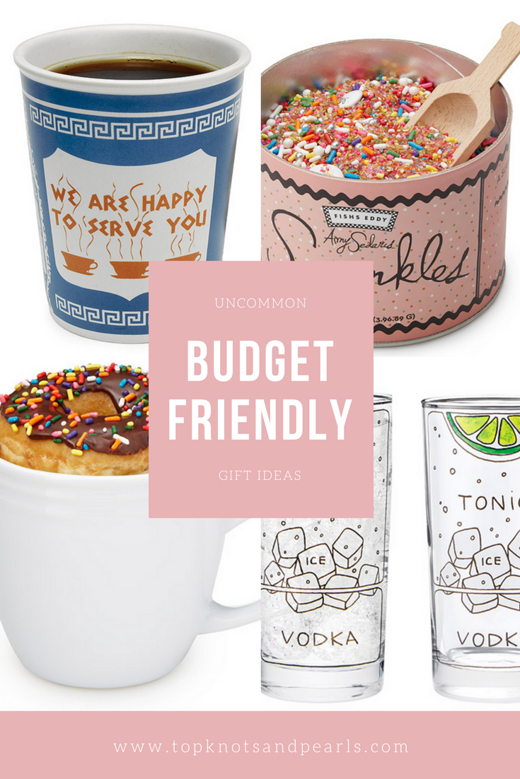 Uncommon budget friendly gift ideas.