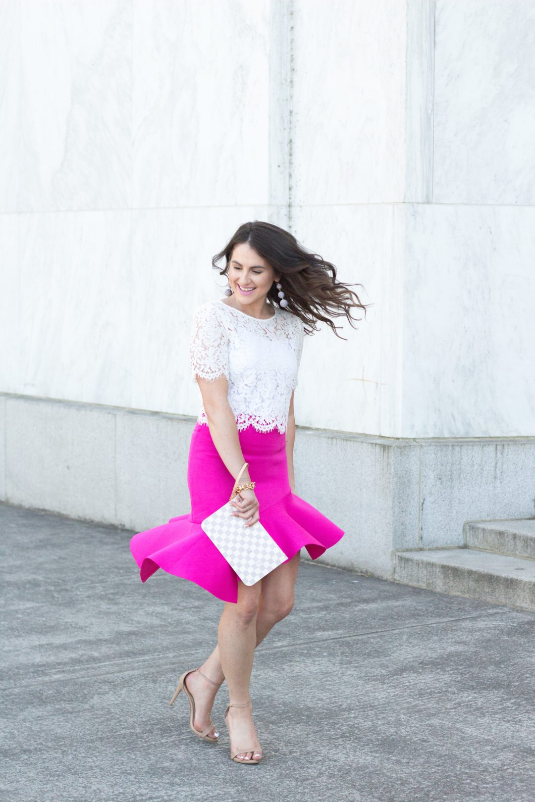 Pink skirt for work wear Wednesday, how to make your professional wardrobe not boring.