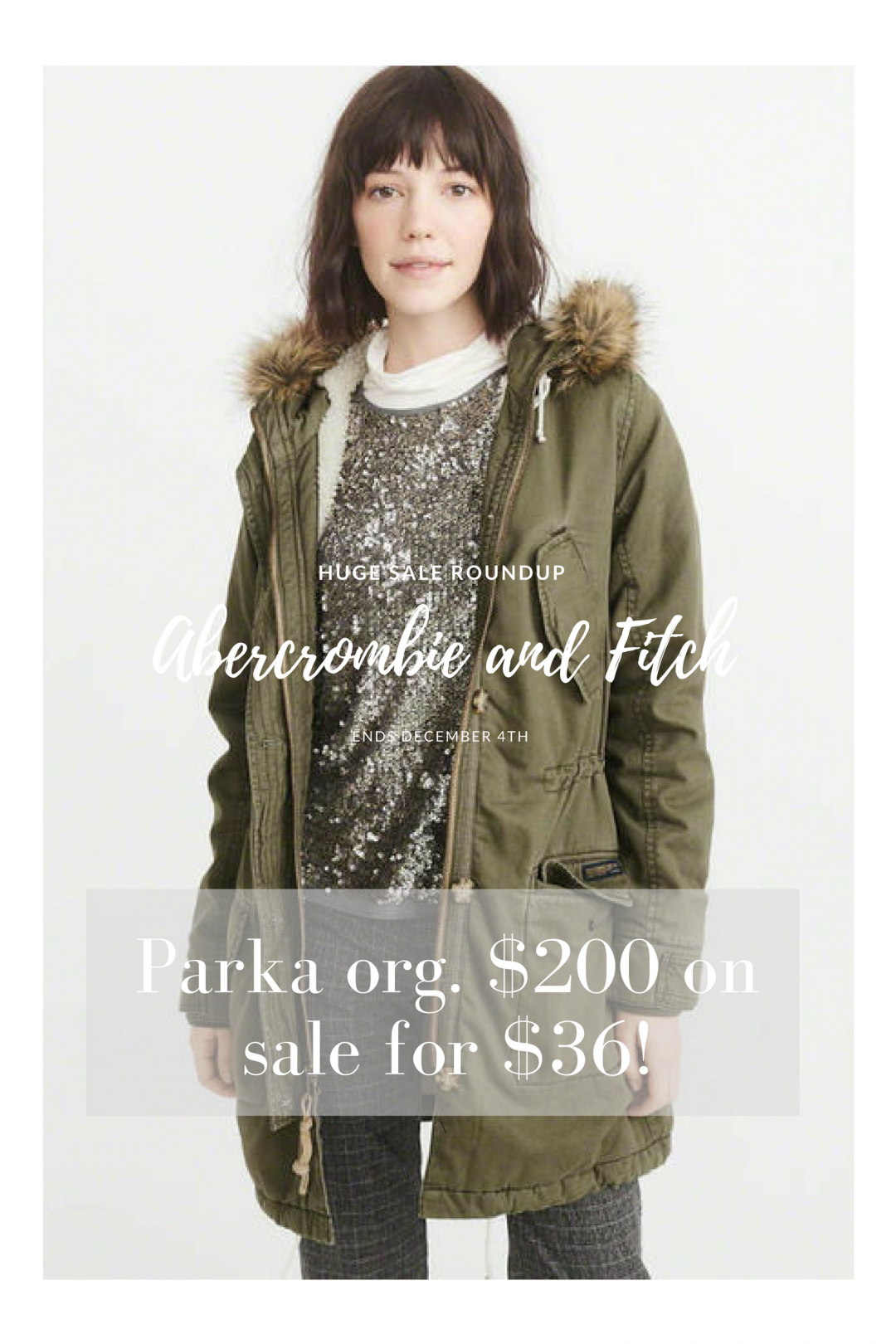Abercrombie and Fitch sale! Parka originally $200 on sale for $36.