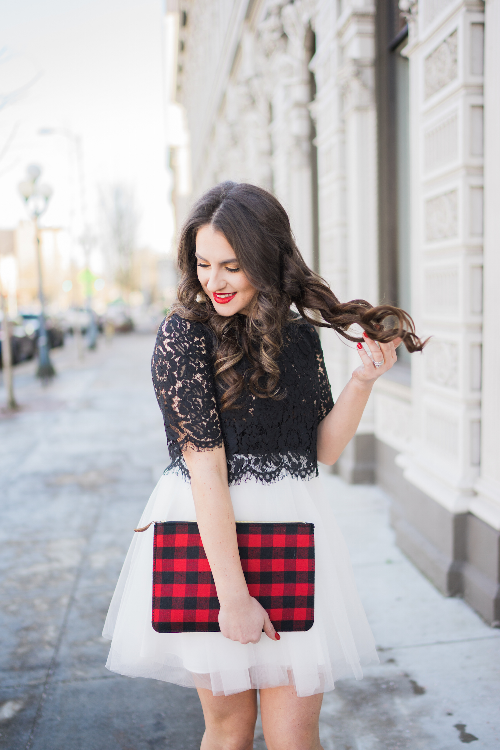 e433baa651 My final Holiday outfit that I will be wearing until it's not seasonally  appropriate is the best tulle skirt combo! I die. It's perfect! Explaining  how to ...