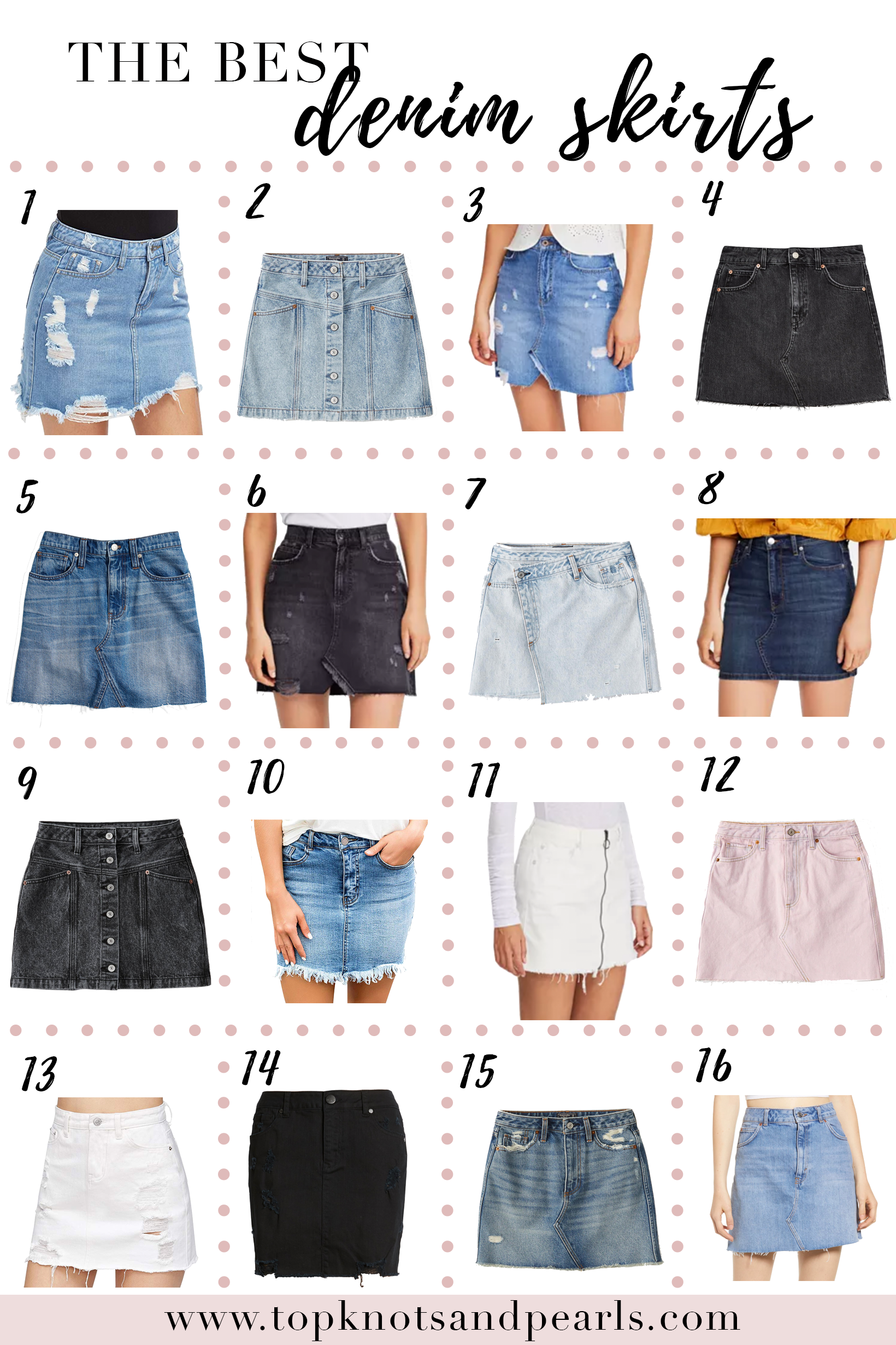 100% quality quarantee customers first how to get Where to buy the best jean skirts | Giveaway | Topknots and ...